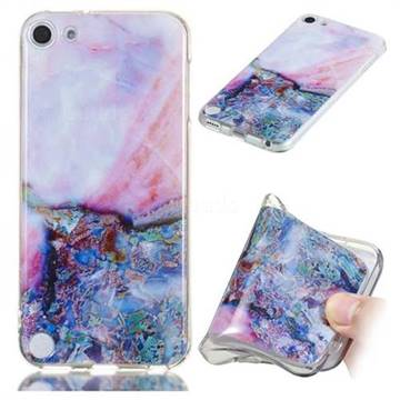 Purple Amber Soft TPU Marble Pattern Phone Case for iPod Touch 5 6