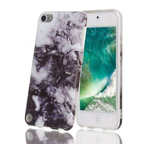 Smoke Ink Painting Marble Clear Bumper Glossy Rubber Silicone Phone Case for iPod Touch 5 6