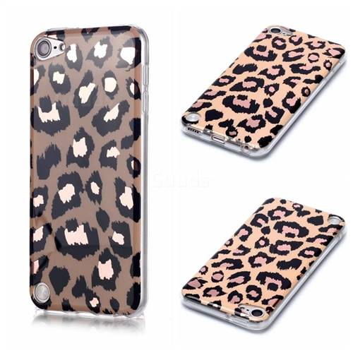 Leopard Galvanized Rose Gold Marble Phone Back Cover for iPod Touch 5 6