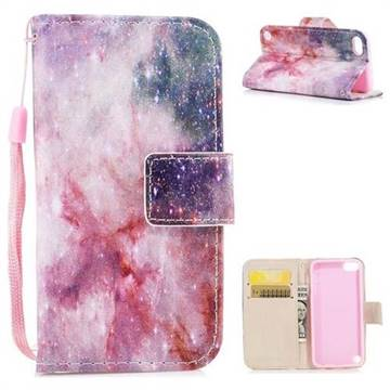Cosmic Stars PU Leather Wallet Case for iPod Touch 5 6