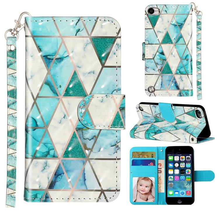 Stitching Marble 3D Leather Phone Holster Wallet Case for iPod Touch 5 6