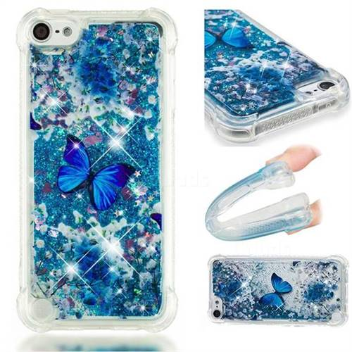 Flower Butterfly Dynamic Liquid Glitter Sand Quicksand Star TPU Case for iPod Touch 7 (7th Generation, 2019)