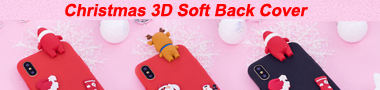 Christmas 3D Soft Back Silicone Cover Banner