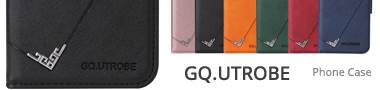 Wholesale GQ.UTROBE Right Angle Silver Pendant Leather Wallet Phone Case Cover