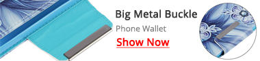 Guuds Wholesale Big Metal Buckle PU Leather Wallet Phone Case