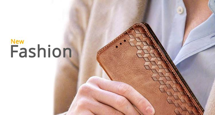 #guuds Ultra Slim Fashion Business Card Magnetic Automatic Suction Leather Flip Cover Case GUUDS.COM