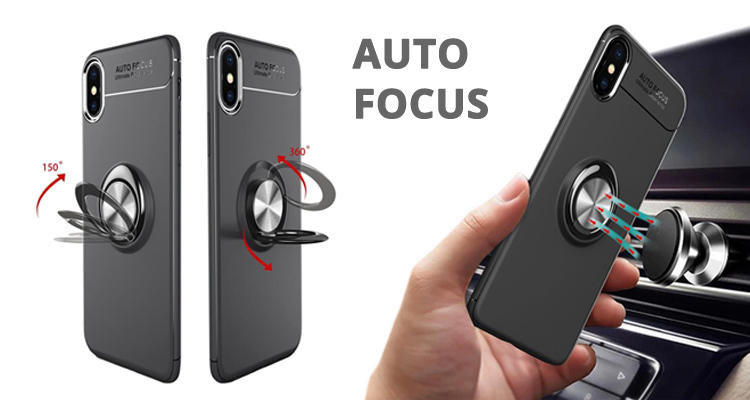 Guuds Wholesale Auto Focus Invisible Ring Holder Soft Phone Case