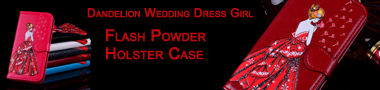 Wholesale Dandelion Wedding Dress Girl Flash Powder Case Cover