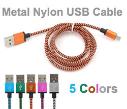 Wholesale Metal Nylon USB Cable